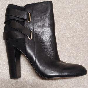 ISOLA woman's black high heels half boot